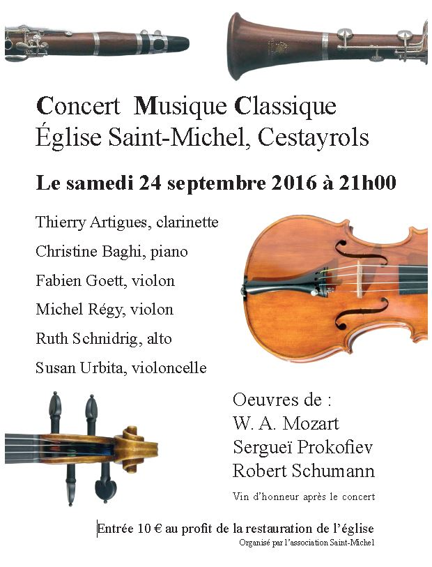 Affiche concert bourg