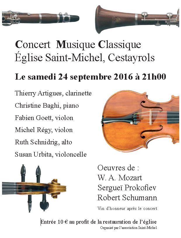 Affiche concert bourg