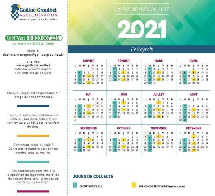 Dates collecte 2021